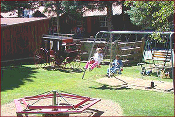 Playground at the Riverside Lodge, Cabins and Condos in Red River, NM