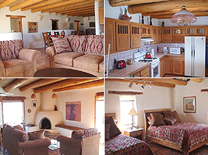 Taos New Mexico private vacation rental home is fully and beuatifully furnished for your comfort and convenience.
